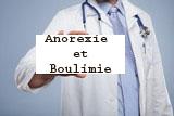 pancarte Anorexie et Boulimie portait par la main d'un médecin