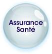 image d'une bulle où c'est noté Assurance santé en bleu foncé