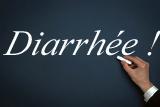 image représentant un tableau où une main écrit diarrhée à la craie