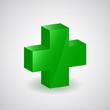 image représentant le symbole de la croix de santé en vert