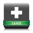 image du logo de la croix pour santé avec une bande verte souligant le mot santé