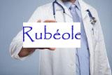 image d'un medecin tenant une pancarte où c'est marqué rubéole